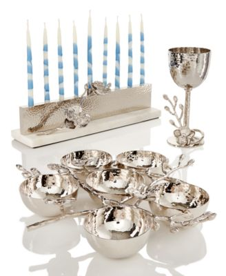 White Orchid Menorah