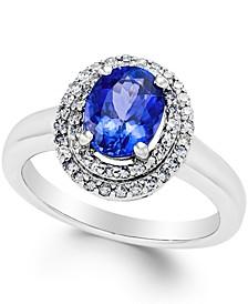 Tanzanite (1-1/2 ct. t.w.) and Diamond (1/3 ct. t.w.) Ring in 14k White Gold