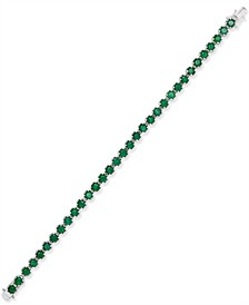 Emerald Tennis Bracelet (8 ct. t.w.) in Sterling Silver, Created for Macy's