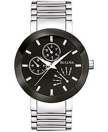 Bulova Men's Futuro Stainless Steel Strap Watch 40mm 96C105