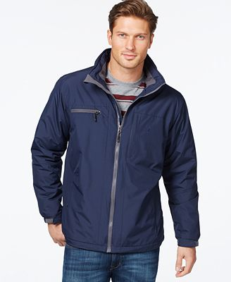 Izod Fleece-Lined Windbreaker Jacket - Coats & Jackets - Men - Macy's