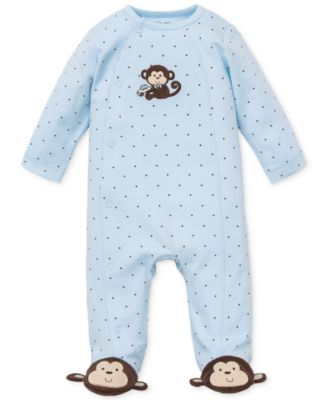 Baby Boys Monkey Footed Coverall