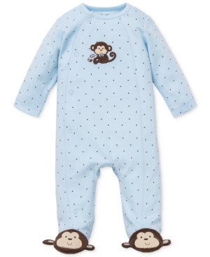 Little Me Baby Boys Monkey Footed Coverall
