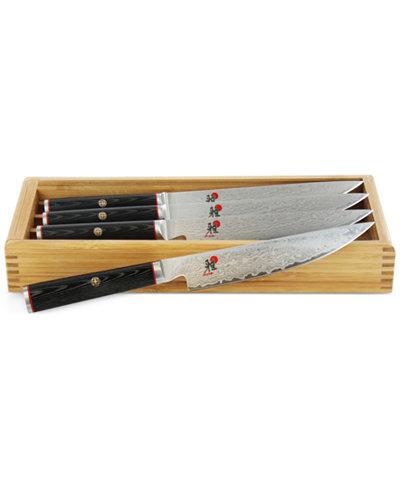 Miyabi Kaizen 4-Pc. Steak Knife Set With Storage Case