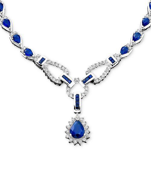 be3e316cd Macy's Sapphire (12-1/3 ct. t.w.) and Diamond (1-1/5 ct. t.w.)Toggle ...