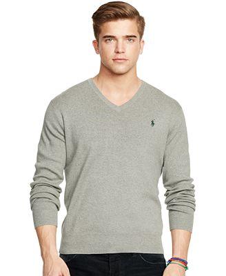 Polo Ralph Lauren Pima V Neck Sweater Sweaters Men Macys