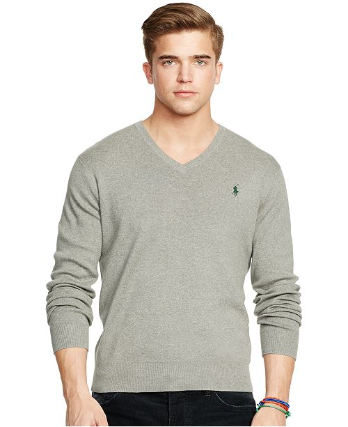 0ded26eca2 Polo Ralph Lauren Pima V-Neck Sweater & Reviews - Sweaters - Men ...