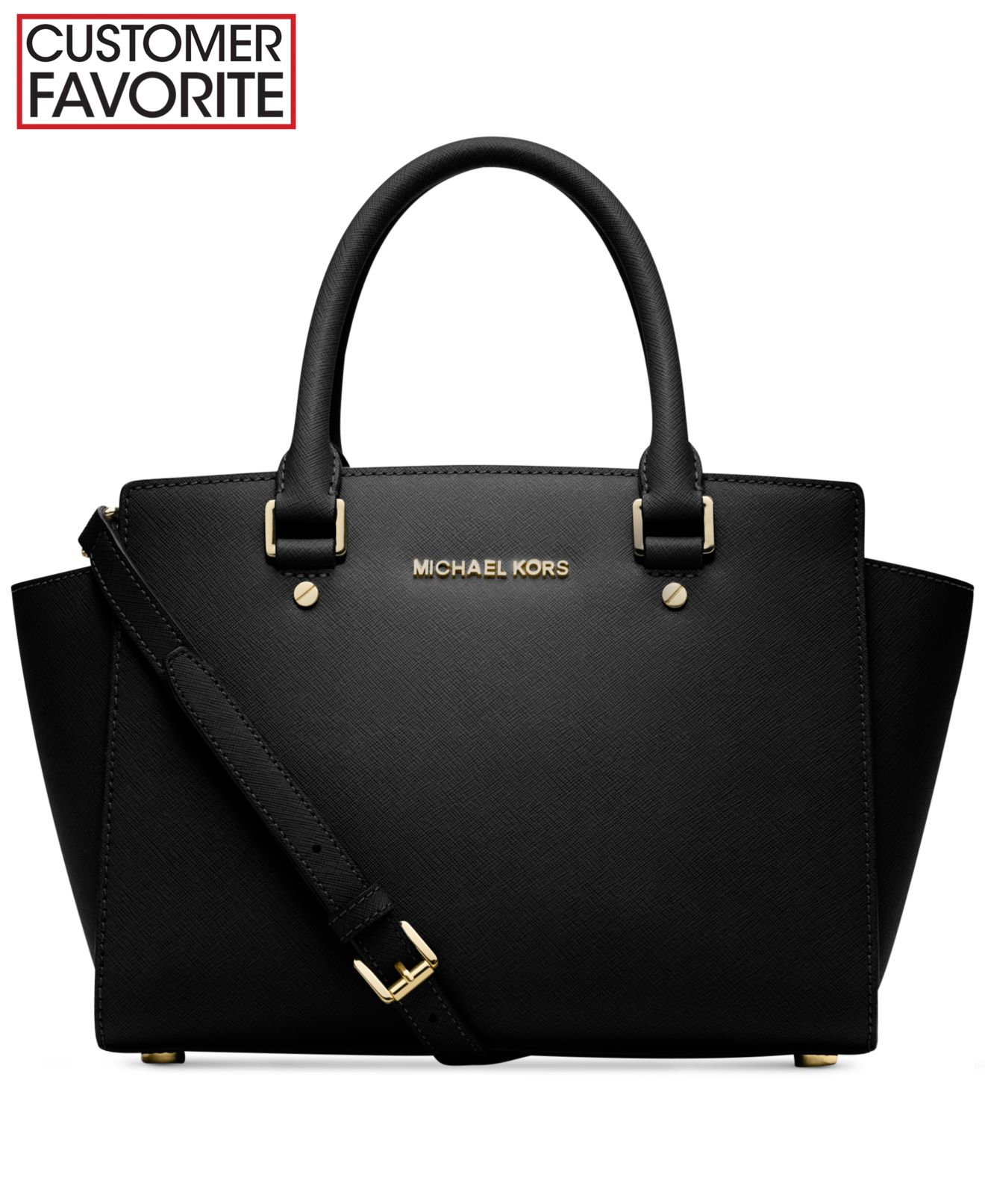 black and gray michael kors bag f759  MICHAEL Michael Kors Selma Collection
