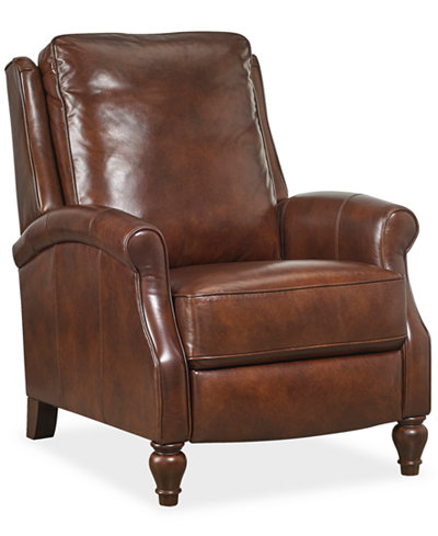 Leeah Leather Pushback Recliner Furniture Macy S