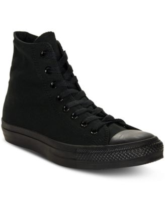 Men's Monochrome Chuck Taylor Hi Top Casual Sneakers from Finish Line