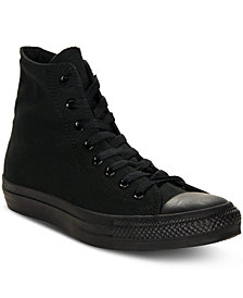 Converse Men's Monochrome Chuck Taylor Hi Top Casual Sneakers from Finish Line