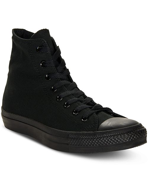 ... Converse Men s Monochrome Chuck Taylor Hi Top Casual Sneakers from  Finish ... 717d7e95d51c