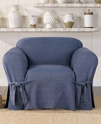 Sure Fit Authentic Denim One Piece T Cushion Chair