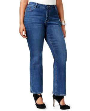 Lee Platinum Plus Size Curvy-Fit Bootcut Jeans, Created for Macy's 2359099