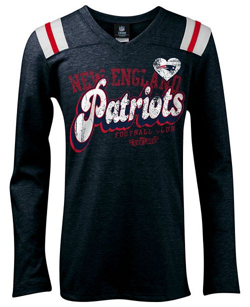 Product Details. The New England Patriots girls  long-sleeve Triblend tee  ... 6dd5ab5aa