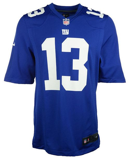 a1dad8d7f Nike Kids' Odell Beckham Jr. New York Giants Game Jersey, Big Boys ...