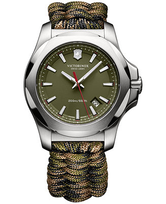 Victorinox Swiss Army Men's I.N.O.X. Green Paracord 241727.1