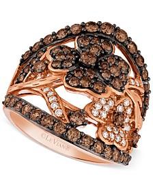 Le Vian Diamond Flower Ring (1-3/4 ct. t.w.) in 14k Rose Gold