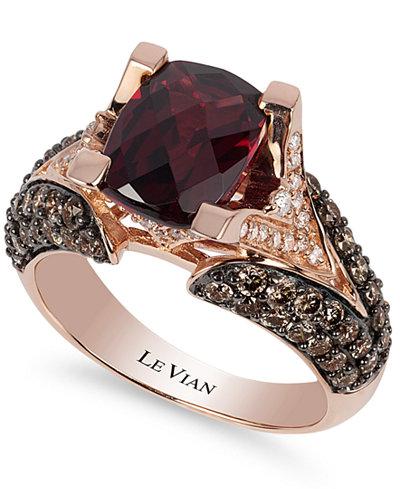 Le Vian® Raspberry Rhodolite® Garnet (3 ct. t.w.), Chocolate ...