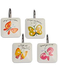 Creative Bath Flutterby Shower Curtain Hooks