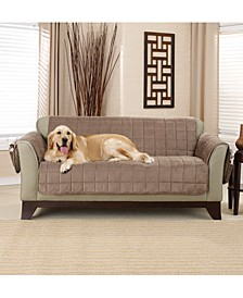 Deep Pile Polyester Velvet with Non-Skid Paw Print Pet Back Loveseat Furniture Cover