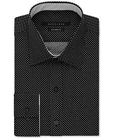 Men's Dot Print Dress Shirt