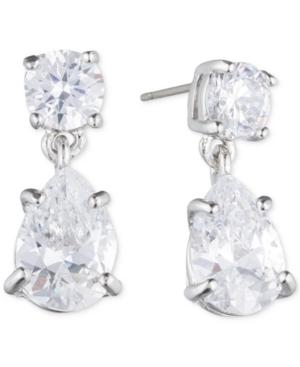 Givenchy-Silver-Tone-Crystal-Pear-Shape-Earrings