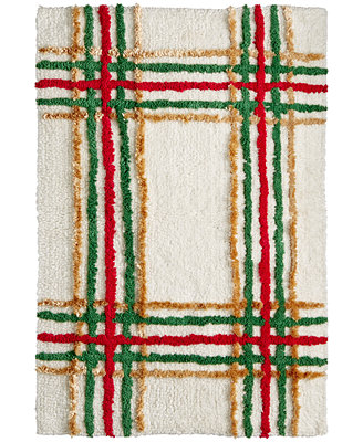 Closeout Lenox Holiday Nouveau Plaid 20 Quot X 20 Quot Bath Rug