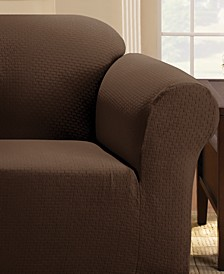 Simple Stretch Subway Tile Chair Furniture Slipcover
