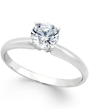 Certified Diamond Engagement Ring (3/4 ct. t.w.) in 18k White Gold