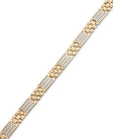 Men's Diamond Channel Set Bracelet (3/4 ct. t.w.) in 10K Gold