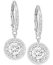 Swarovski Silver-Tone Crystal Stone Drop Earrings