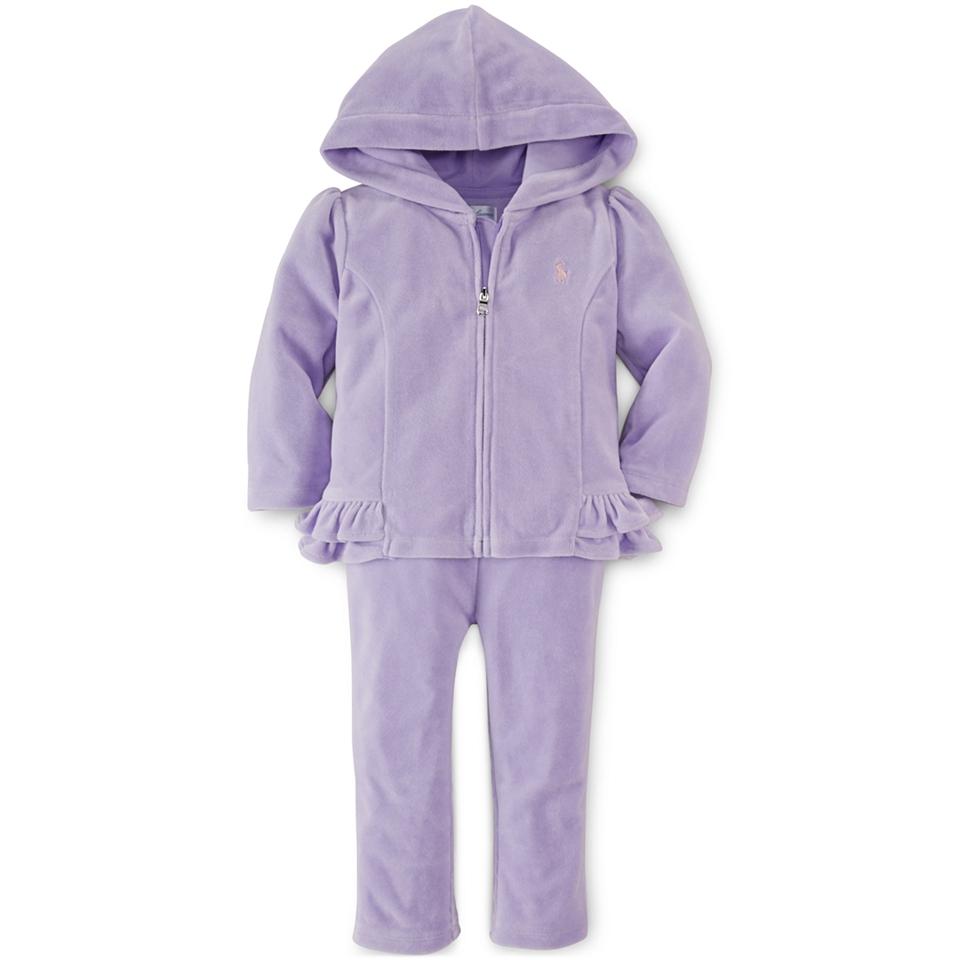 e70b86444 Ralph Lauren Baby Girls 2 Piece Hoodie   Pants Set Kids   Baby on ...