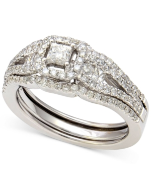 Diamond Bridal Set in 14k White Gold (1 ct. t.w.)