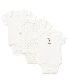 Baby Boys & Girls Giraffe Bodysuit 3-Pack