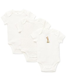 Little Me Baby Boys & Girls Giraffe Bodysuit 3-Pack