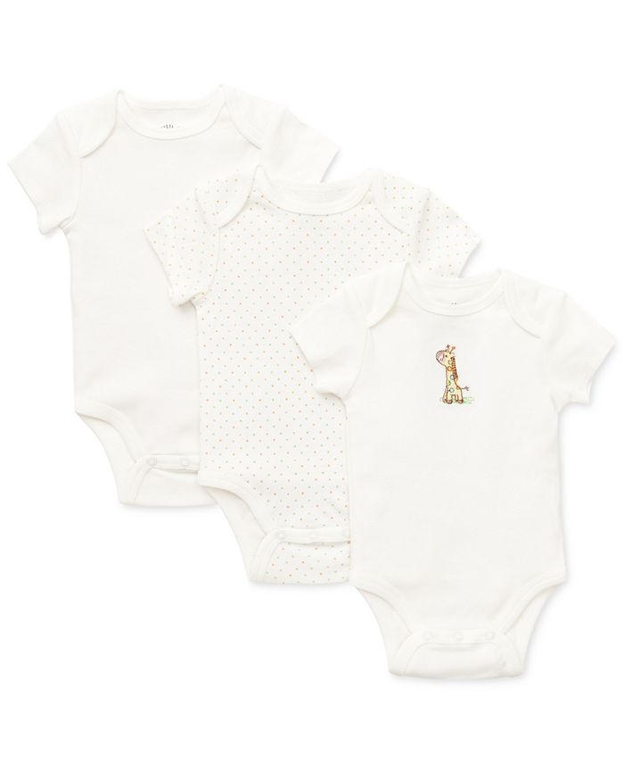 Little Me - Babies' 3-Pack Giraffe Bodysuit Set