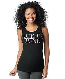 Motherhood Maternity Due In June™ Maternity Graphic Tank Top