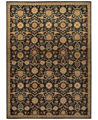 "Home Ancient Times Persian Treasures Black 3'9"" x 5'9"" Area Rug"