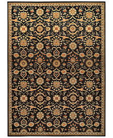 "kathy ireland Home Ancient Times Persian Treasures Black 5'3"" x 7'5"" Area Rug"