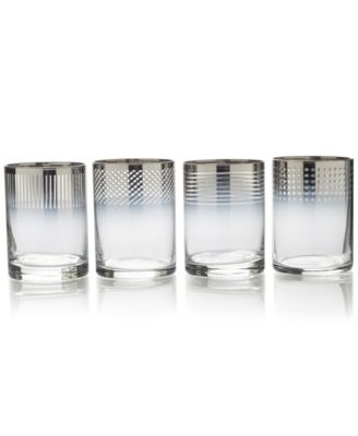 Cheers Collection Metallic Ombré Double Old-Fashioned Glasses, Set Of 4