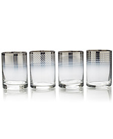 Mikasa Cheers Collection Metallic Ombré Double Old-Fashioned Glasses, Set Of 4