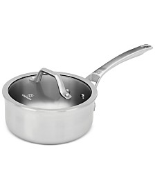 Calphalon Signature Stainless Steel 2.5 Qt. Shallow Sauce Pan with Cover