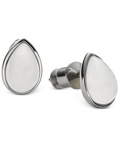 Skagen Silver-Tone Sea Glass Stud Earrings