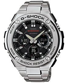 Men's Analog-Digital Stainless Steel Bracelet Watch 52x60mm GSTS110D-1A