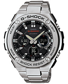 G-Shock Men's Analog-Digital Stainless Steel Bracelet Watch 52x60mm GSTS110D-1A