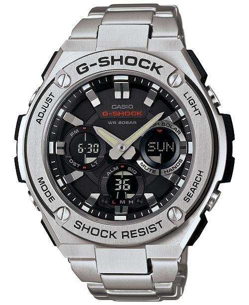 9ea5fa9e7 ... G-Shock Men s Analog-Digital Stainless Steel Bracelet Watch 52x60mm  GSTS110D- ...