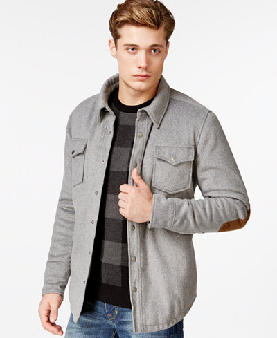 American Rag Men's Elbow-Patch Shirt Jacket, Only at Macy's ...