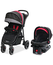 Graco Baby Aire4 XT Stroller & SnugRide Click Connect 35 Infant Car Seat Travel System Set