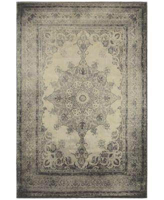 Richmond Medallion Ivory/Grey 3'10